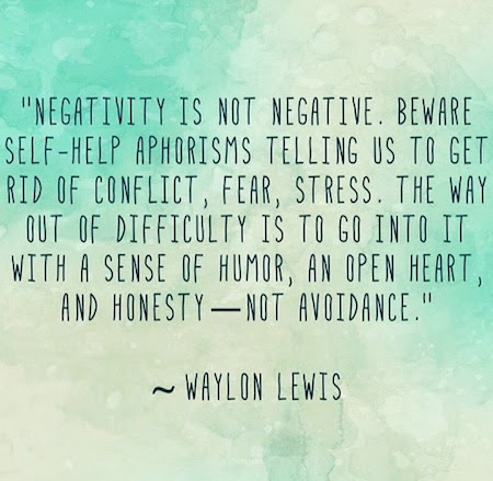 Negativity if not negative